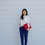 zara red bow clutch
