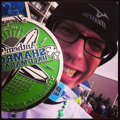 Finished! Unofficial time 1:51:35. NEW PR! Go me! #running