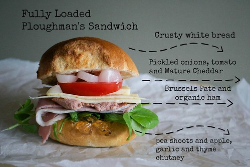 fully loaded ploughmans sandwich recipe