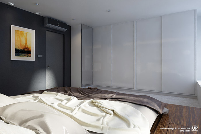 Residential Interior Design Idea_Bedroom sliding wardrobe_Condominium_Palm Oasis, Singapore_03