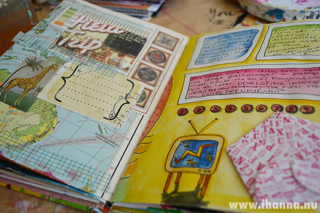 Art Journal Spread: this and that