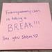 blogging break by frannywanny