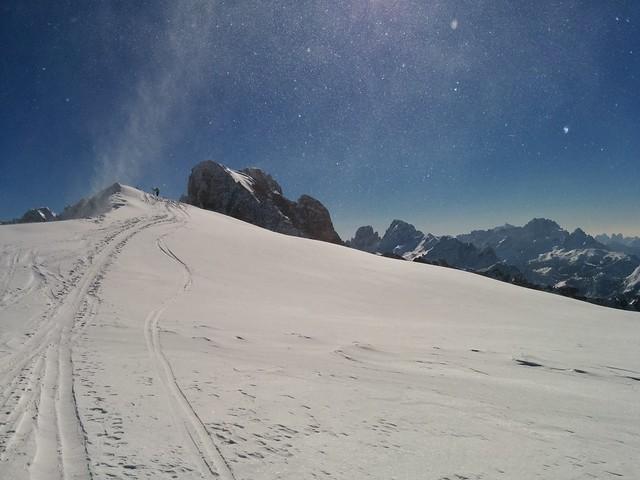 Gipfel Kleine Gaisl in Sicht, nur noch wenige Meter