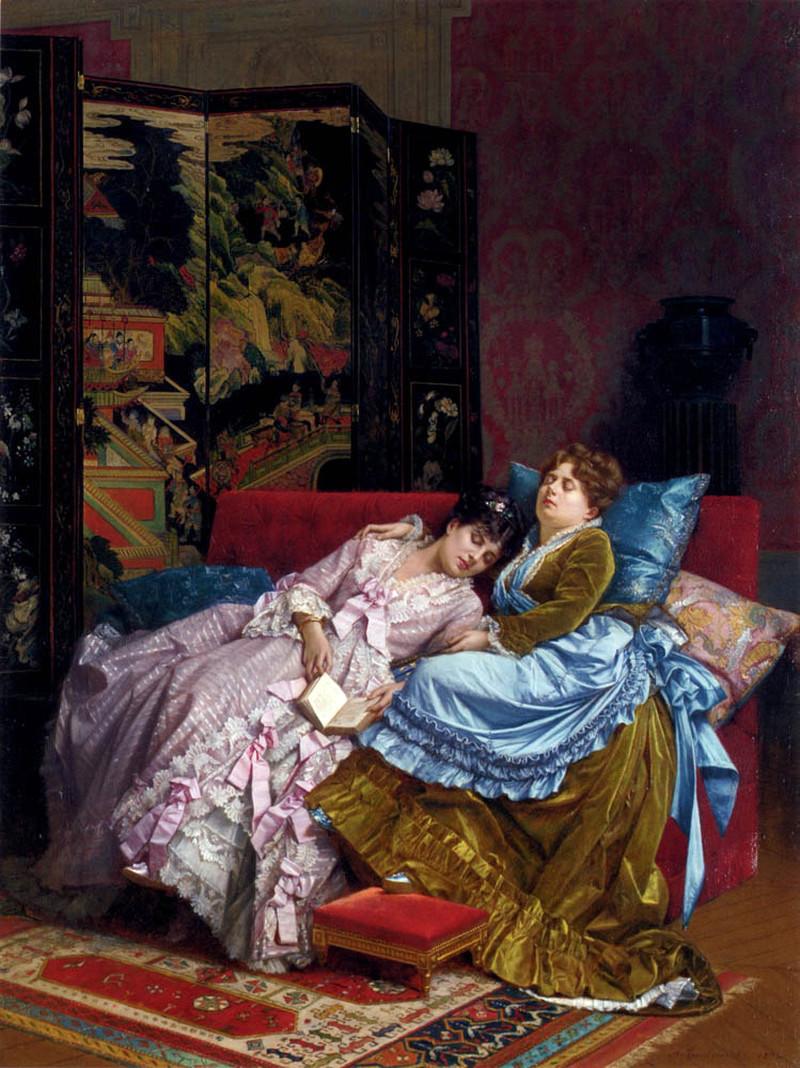 An Afternoon Idyll by Auguste Toulmouche, 1874