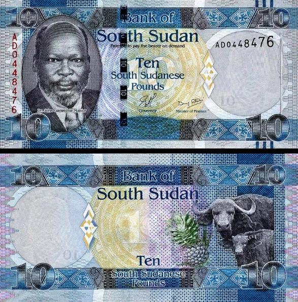 10 Juhosudánskych Libier, Južný Sudán 2011, P7a