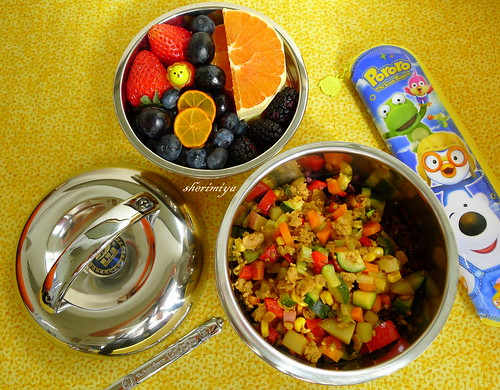 Dry Curry Bento by sherimiya ♥