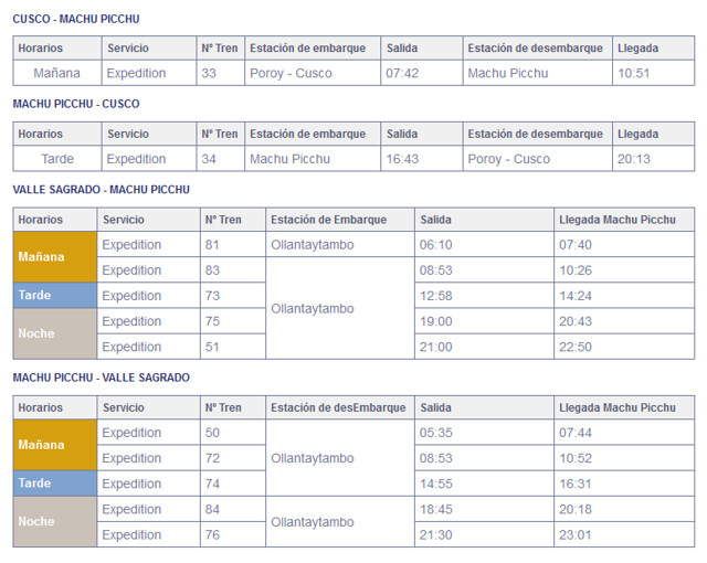 horarios-expedition