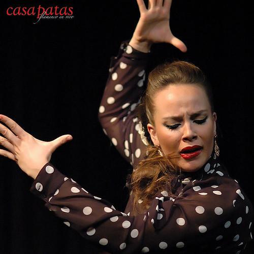 La bailaora Claudia Cruz en Casa Patas. Foto: Martín Guerrero