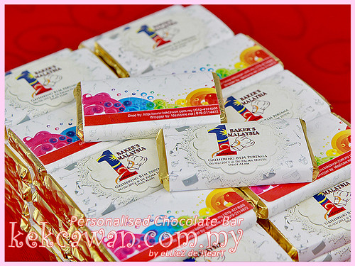 Personalised Choc Bar - Bakers 1 Malaysia