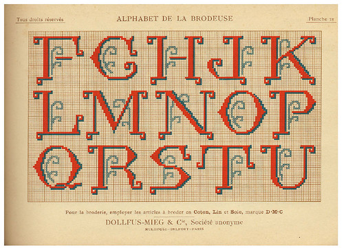 008-Alphabet de la Brodeuse1932- Thérèse de Dillmont