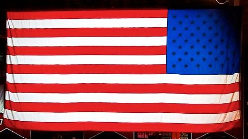American Flag in Reverse