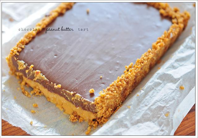 chocolate peanut butter tart