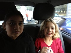 Breysi and Bella on the way to Zacapa