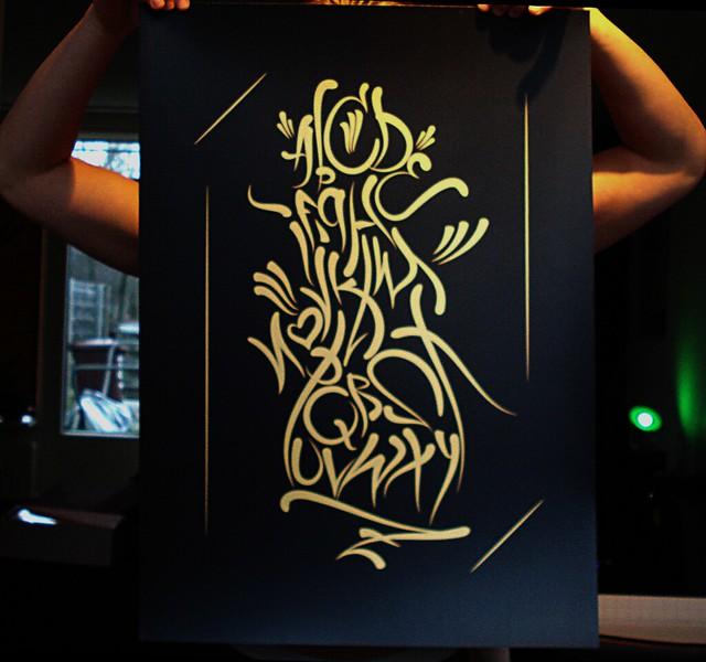 Supreme Alphabet ScreenPrint by Slider Ink