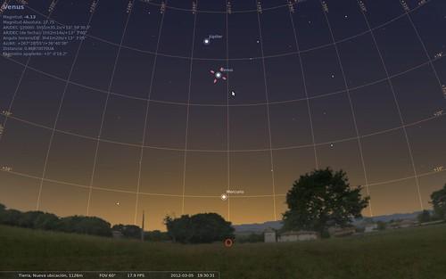 Mercurio - Venus - Júpiter