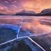 Abraham Lake Sunset by Chip Phillips