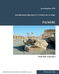 Parution Ifpo: Inscription grecques et latines de la Syrie - Palmyre