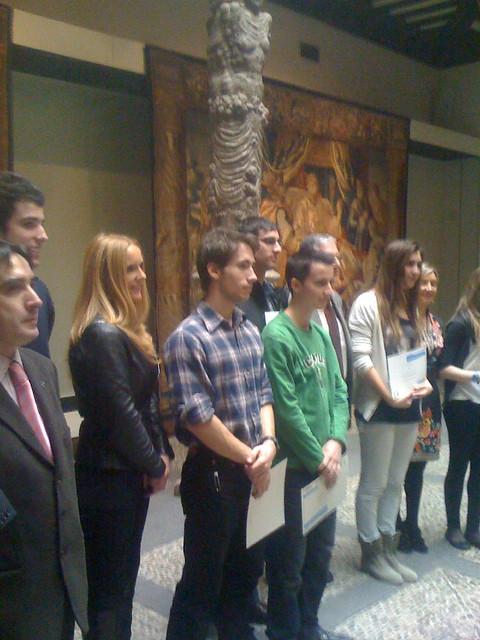 Álvaro con los premiados