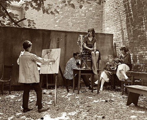 bohemian lifestyle 1920s up 1920 s bohemians courtyard painter 10111
