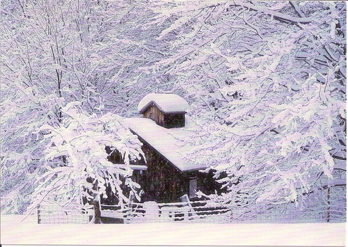 Vermont Sugar House in Snow