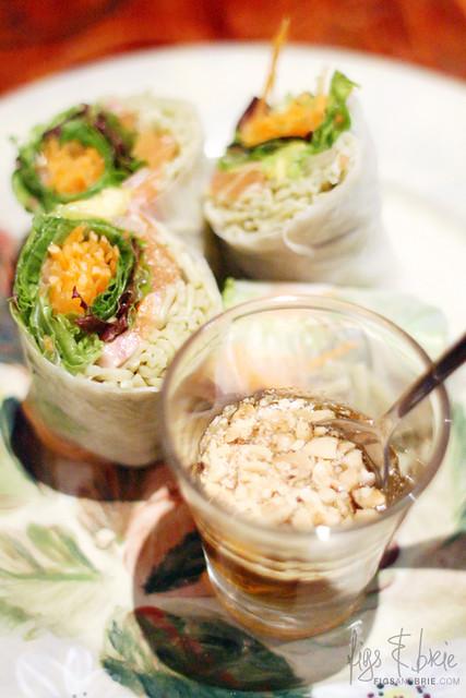 Salmon Rice Paper Rolls, Missy K