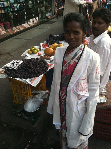 Woman at Crawford Market, Mumbai, India