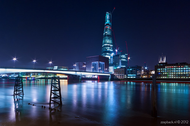 The Shard in blue / London Bridge