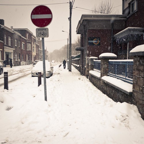 No Direction Snow (Like a Rolling Stone in the Falling Snow) - Grivegnée - photo : Gilderic