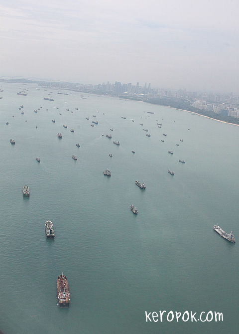 Ships on the Singapore Waters