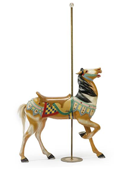 Carved and painted carousel horse Marcus Illions, Brooklyn, lot 7243