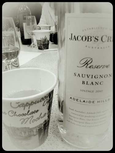 Wine from a paper cup on band camp
