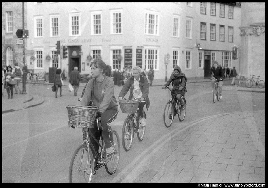cyclists in oxford