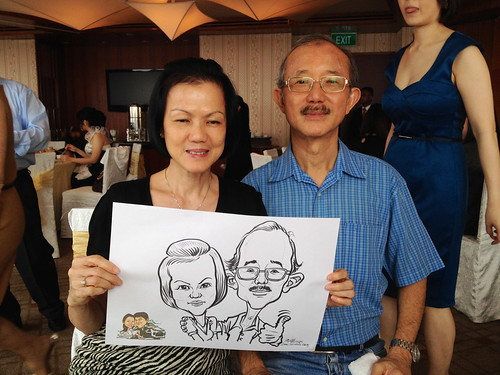 caricature live sketching for a wedding solemnization