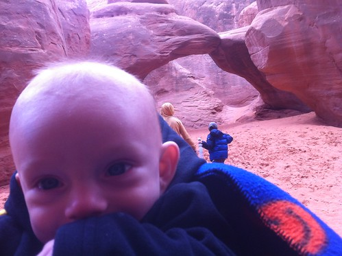 Waylon at Sand Dune arch