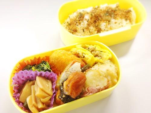 今日のお弁当 No.274 – 海苔かつお