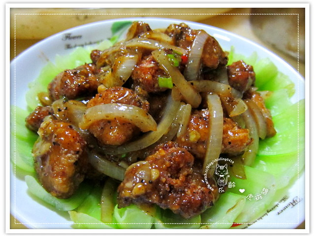 黑胡椒梅花肉