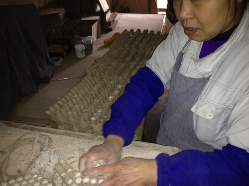 Worker Fusing Barrages Together - Epic Fireworks China Trip 2012