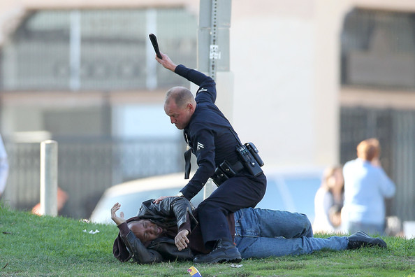 Woody Harrelson makes a great poster boy for the LAPD in RAMPART.
