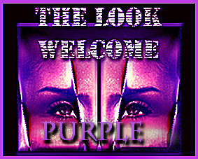 welcome purple look