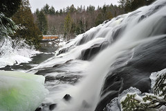 Lower Bond Falls - Paulding, Michigan by Michigan Nut