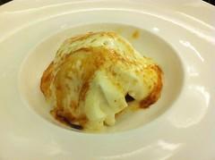 Espuma quemada de arroz con leche, toffe y helado de maracuyá - Ozio Arizona - Bilbao - Vizcaya