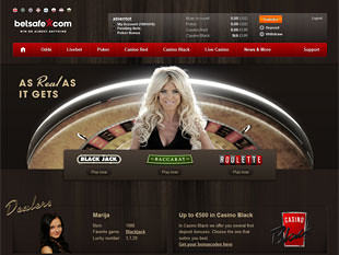 BetSafe Live Casino Home