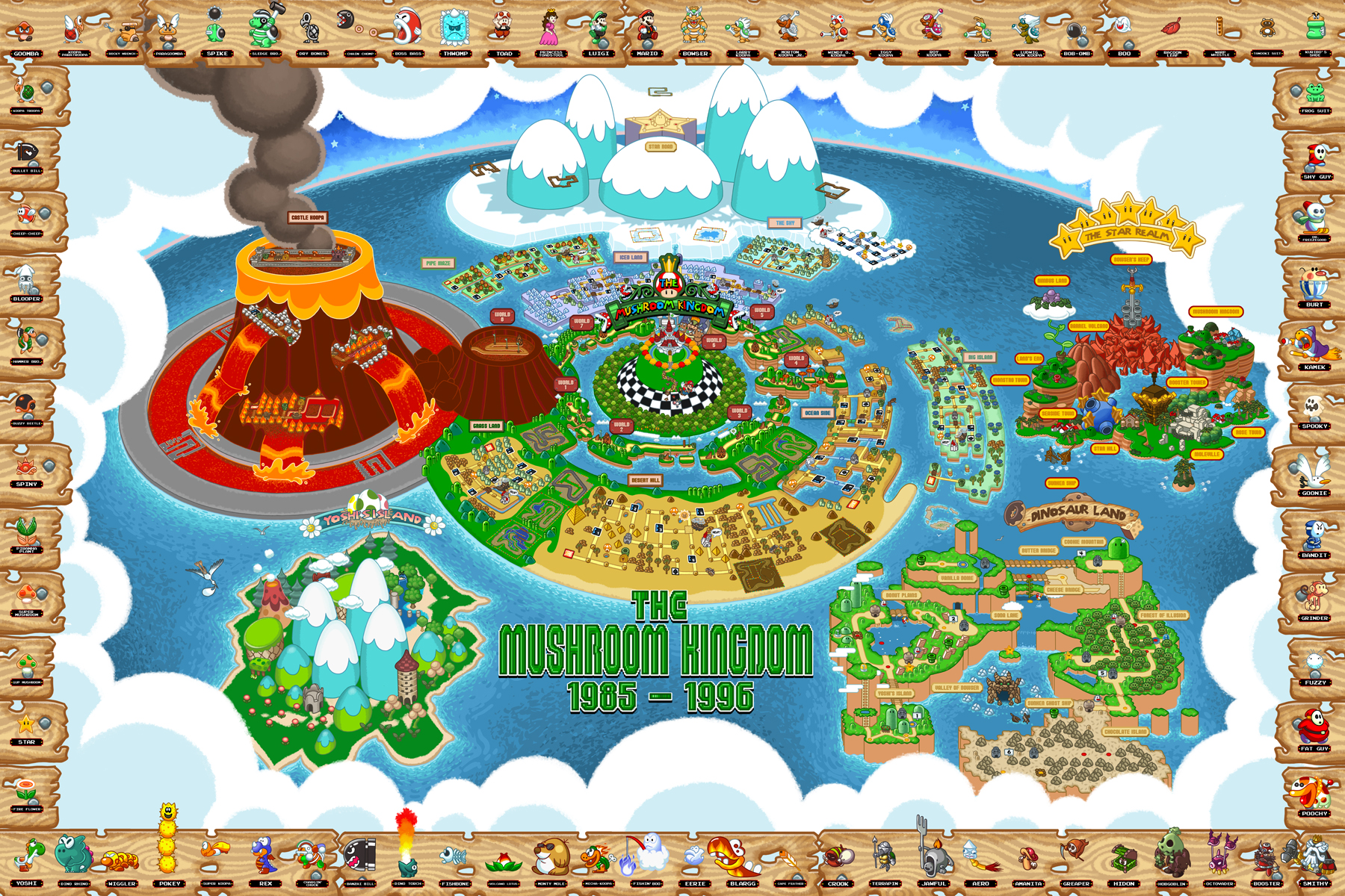 The Ultimate Map To The Entire Mushroom Kingdom Venturebeat