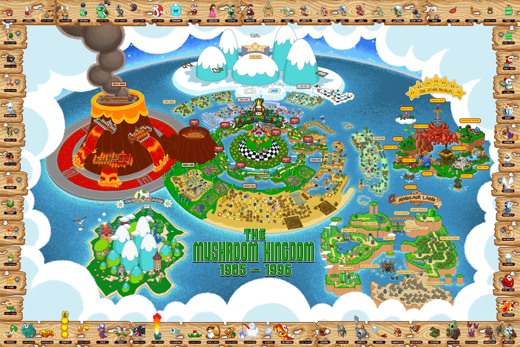 The ultimate map to the entire Mushroom Kingdom | VentureBeat