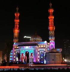 مسجد التقوى - الشارقة، خلال مهرجان الأضواء 2012
