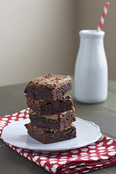 Peanut Butter Kahlua Brownies