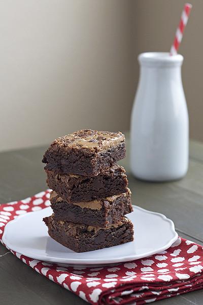 Peanut Butter Kahlua Brownies