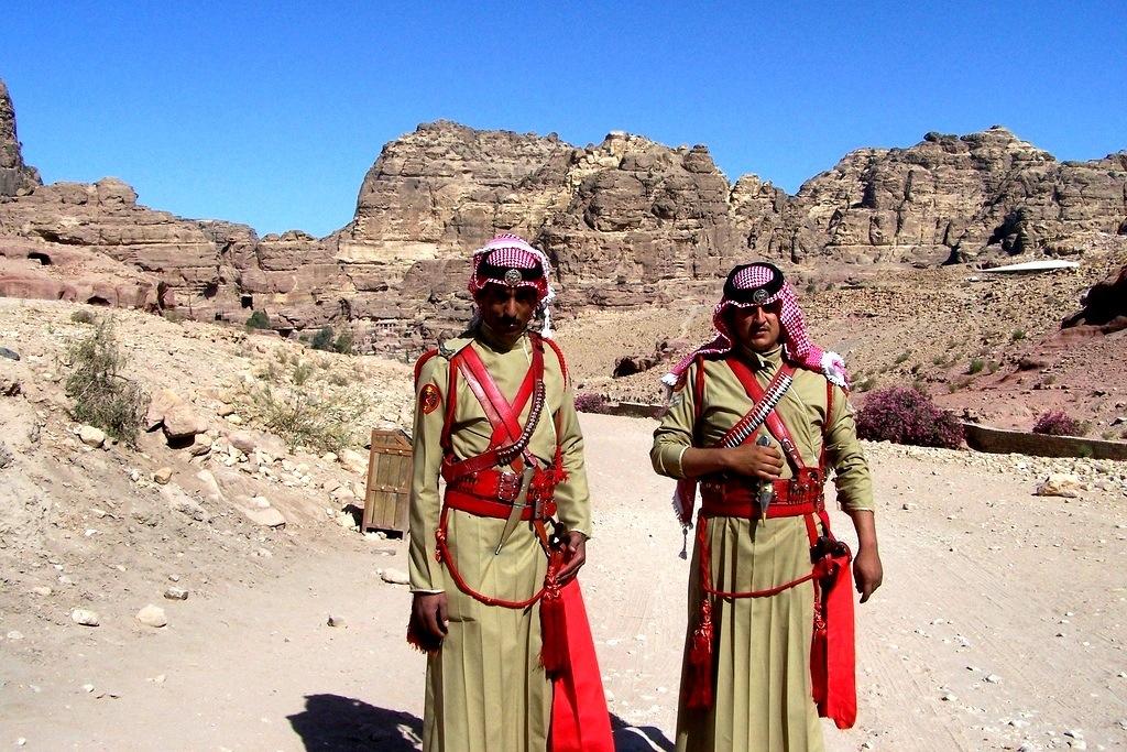 Bedouin soldiers, Jordan