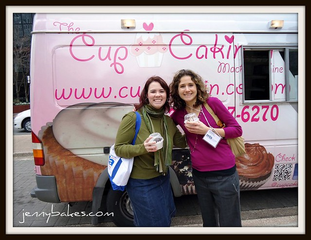 Sara and Emily on a Cupcake Truck Safari