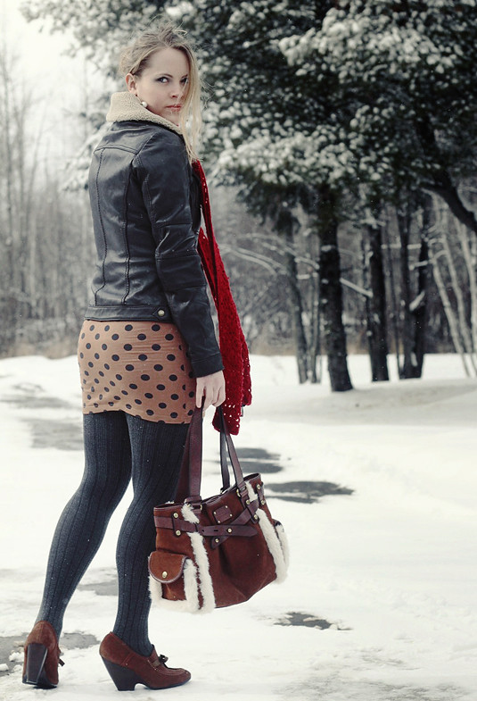 Jacket:  Michael by Michael Kors; Scarf:  Gap;  Skirt:  ASOS; Bag:  Fossil; Shoes:  Urban Outfitters